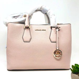 NWT MICHAEL KORS Camille Large Leather Satchel